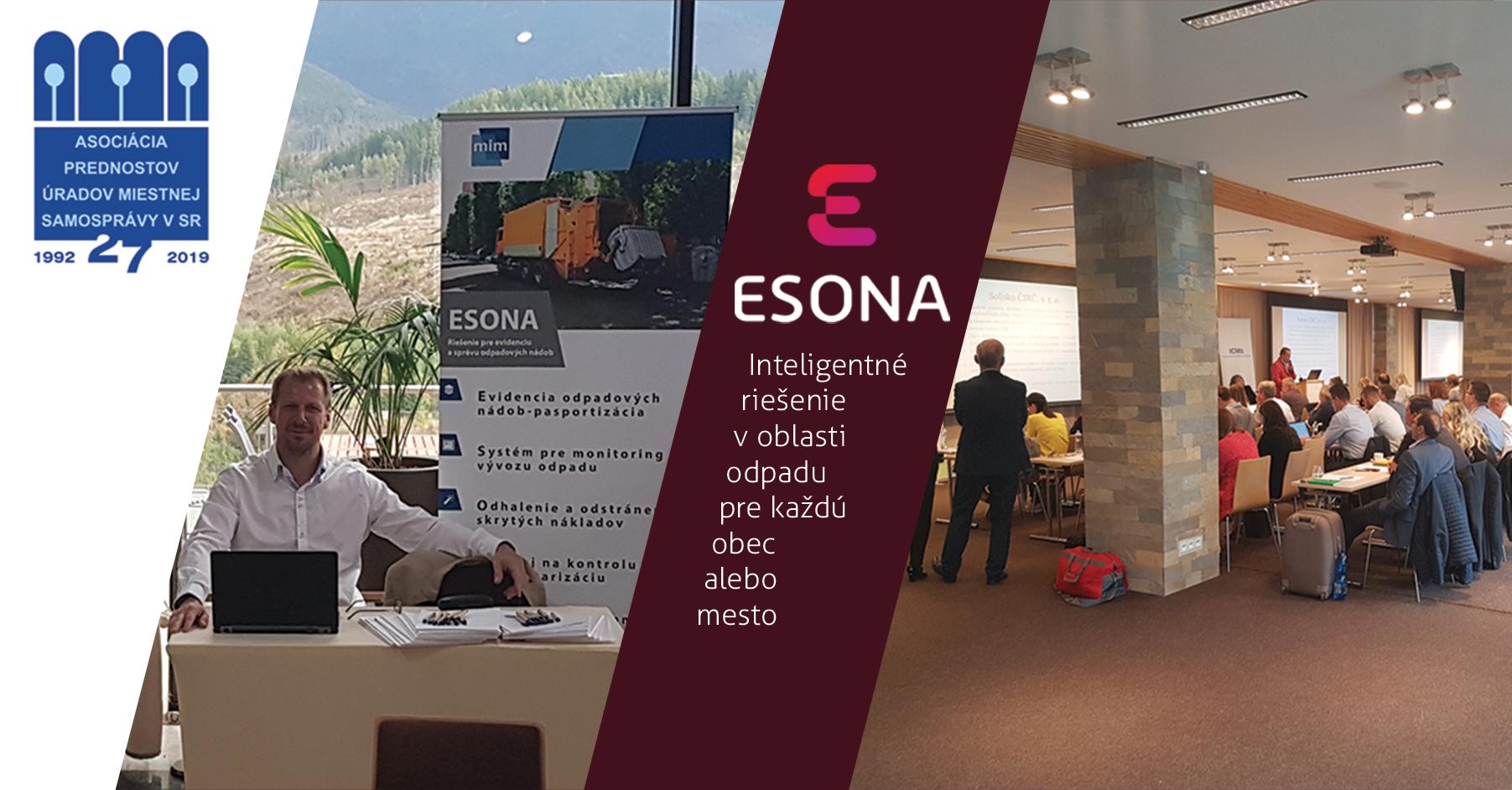 ESONA prezentovaná na ďalšom ročníku odbornej konferencie APÚMS 2019
