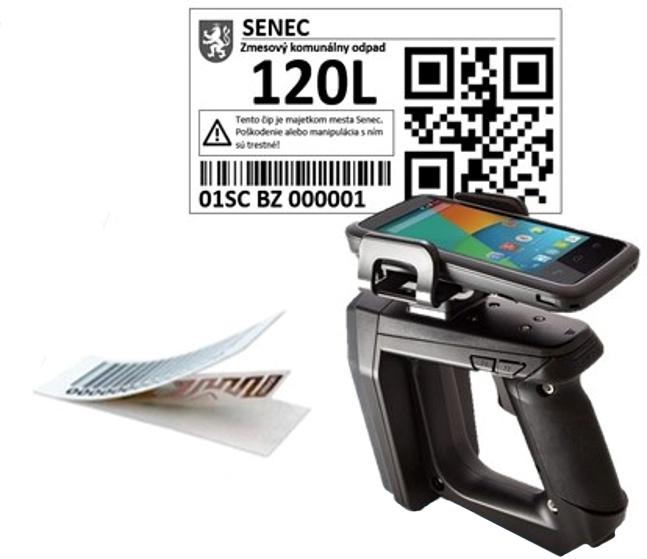 Manuálne RFID čítačka a čip