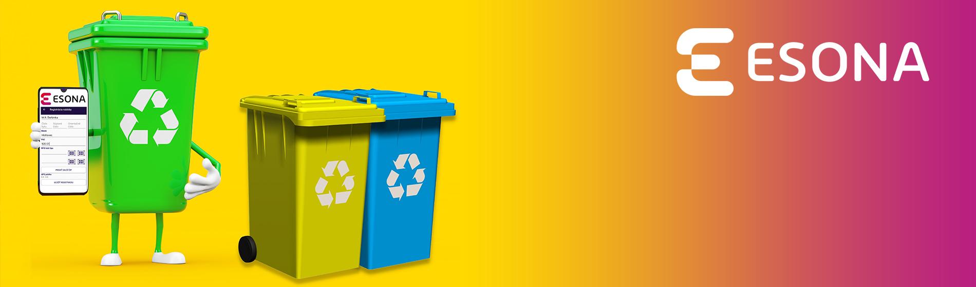 Aplikácia ESONA pre perfektný prehľad o vašich odpadoch